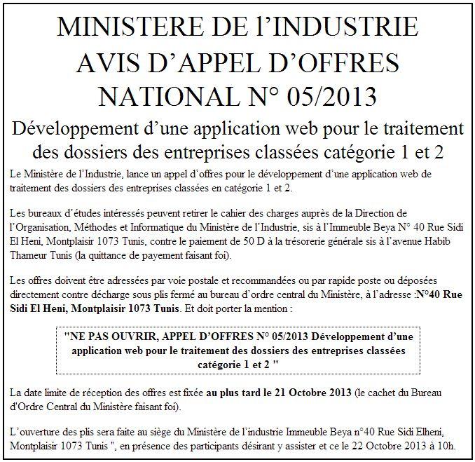 Ministere De L Industrie